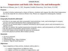 Temperature and Daily Life: Mexico City and Indianapolis Lesson Plan