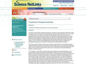 Temperature Changes Everything Lesson Plan