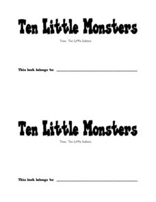 Ten Little Monsters Worksheet