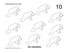Ten Manatees Worksheet