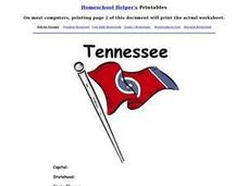 Tennessee Worksheet