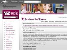 Tennis and Golf Players Lesson Plan
