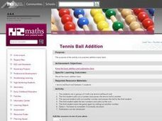 Tennis Ball Addition Lesson Plan