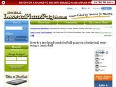 Tennis Football Lesson Plan
