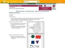 Tessellations:  Identify Common Shapes That Tessellate Lesson Plan