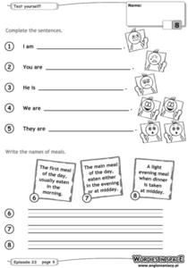 Test Yourself: Complete the Sentences Worksheet