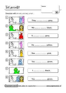 Test Yourself! Linking Verbs Worksheet