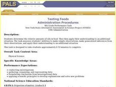 Testing Foods Lesson Plan