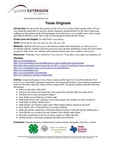 Texas Originals Lesson Plan
