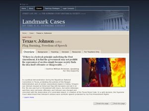 Texas v. Johnson Lesson Plan