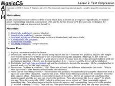 Text Compression Lesson Plan