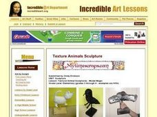 Textural Animal Sculptures - Model Magic Lesson Plan