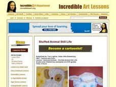 Textured Animals - Stuffed Animal Still Life Lesson Plan