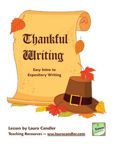 Thankful Writing Lesson Plan