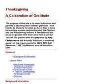 Thanksgiving: A Celebration of Gratitude Lesson Plan