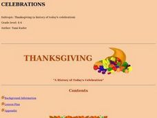 Thanksgiving: a History of Today's Celebration Lesson Plan