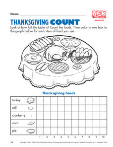 Thanksgiving Count Lesson Plan