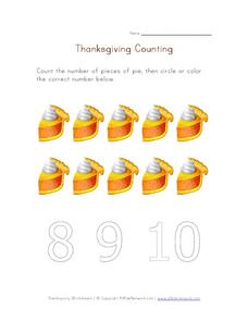 Thanksgiving Counting 3 Worksheet