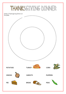 Thanksgiving Dinner Worksheet