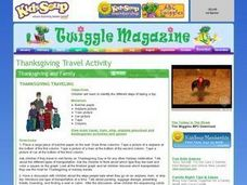 Thanksgiving Travel Activity Worksheet