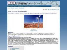 Thar She Blows!: Wind Power Lesson Plan