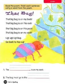 That Bug! Worksheet
