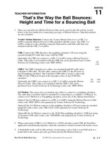 That's The Way The Ball Bounces Lesson Plan