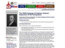 The 1828 Campaign of Andrew Jackson: Expansion of the Voting Base Lesson Plan