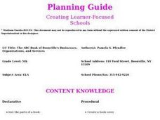 The ABC Book of Boonville's Businesses, Organizations, and Services Lesson Plan