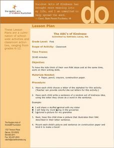 The ABC's of Kindness Lesson Plan