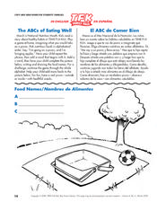 The ABCs of Eating Well Lesson Plan