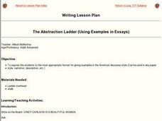 The Abstraction Ladder (Using Examples in Essays) Lesson Plan