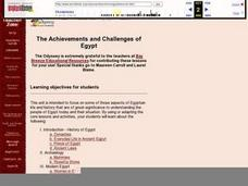 The Achievements and Challenges of Egypt Lesson Plan