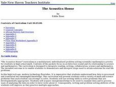 The Acoustics House Lesson Plan