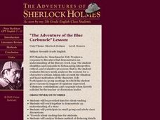 """The Adventure of the Blue Carbuncle"" Lesson Plan"