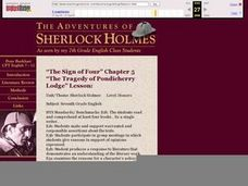 The Adventures of Sherlock Holmes (As seen by my 7th Grade English Class Students) Lesson Plan