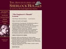"The Adventures of Sherlock Holmes, ""The Engineer's Thumb"" Lesson Lesson Plan"
