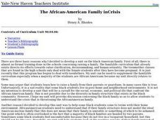 The African-American Family in Crisis Lesson Plan
