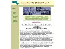 The African American Heritage Trail of Martha's Vineyard Lesson Plan