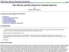 The African and the Pequot in Colonial America Lesson Plan