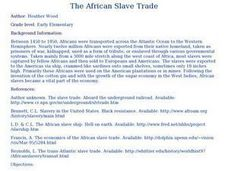The African Slave Trade Lesson Plan