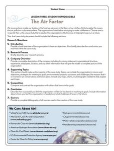 The Air Factor Worksheet