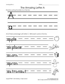 The Amazing Letter A Worksheet