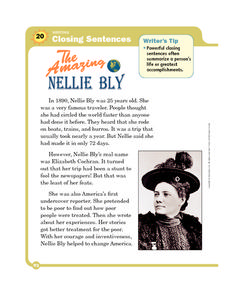 The Amazing Nellie Bly Worksheet
