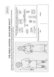 The Anglo-Saxons- Who Wore What? Worksheet