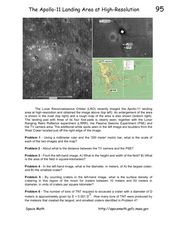 The Apollo-11 Landing Area at High-Resolution Worksheet