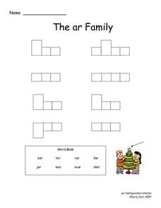 The -ar Word Family- Word Configurations Lesson Plan