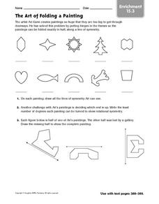 The Art of Folding a Painting - Enrichment 15.3 Worksheet