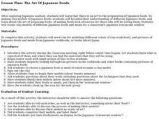 The Art Of Japanese Foods Lesson Plan
