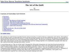 The Art of the Quilt Lesson Plan